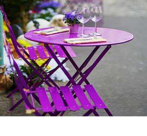 Tischgestelle für den Außenbereich