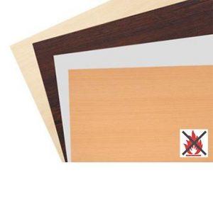 Schwer entflammbare Tischplatten