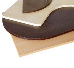 Tischplatten mit Melaminharzbeschichtung